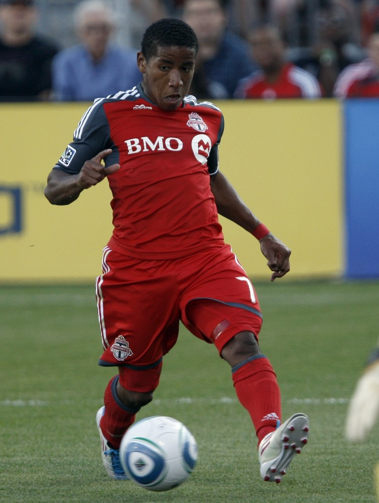 Joao Plata was the sparkplug Toronto FC needed to beat Vancouver Whitecaps in the Nutrlite Canadian Championship on Saturday. (Abelimages/Getty Images)