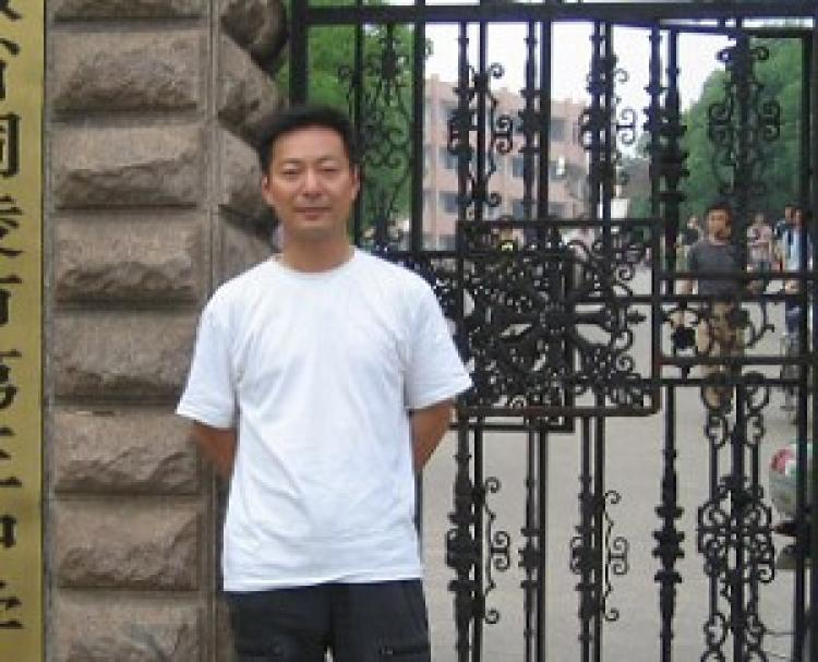 Former associate professor of Nanjing Normal University and deputy chairman of the China New Democracy party, Guo Quan, was arrested on the morning of November 13, and could face subversion charges. (The Epoch Times)