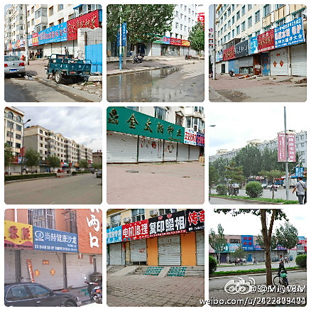 Closed stores in Northeastern China