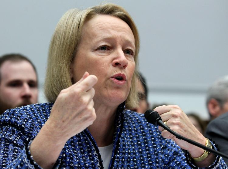 DODD-FRANK DIRECTIVE: Securities and Exchange Commission Chairwoman Mary Schapiro testifies during a House Financial Services Committee hearing on Feb. 15, in Washington.  (Mark Wilson/Getty Images)