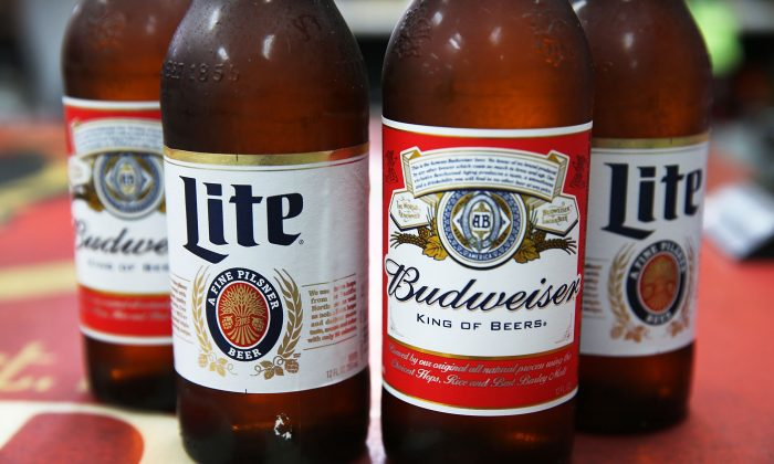 A stock photo of Miller Lite and Budweiser (Illustration by Joe Raedle/Getty Images)