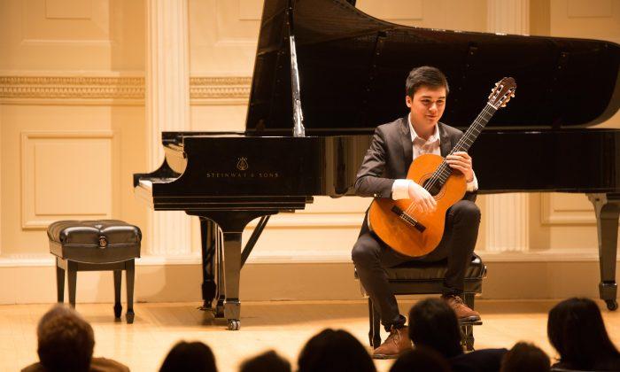 Award winning, 15-year-old guitarist Liam McManus, performs Adagio from the Vivaldi Guitar Concerto in D Major. (Andrias Nicho Nugraha)