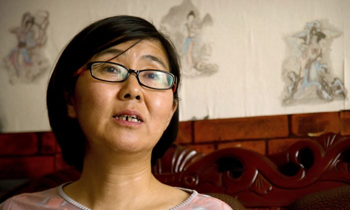 Chinese human rights lawyer Wang Yu in Beijing on April 18, 2015. (AP Photo/Mark Schiefelbein)