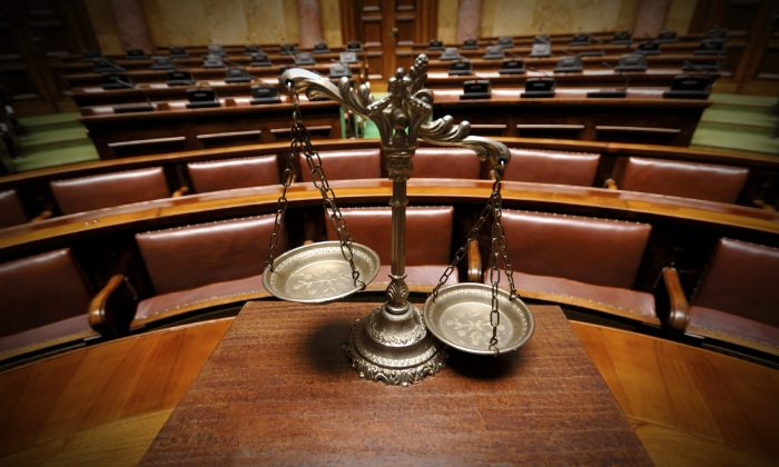 A stock photo shows the scales of justice (Vladimir Cetinski/iStock)