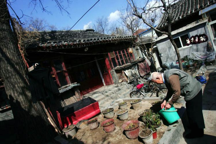 A Chinese court yard (China Photos/Getty Images)