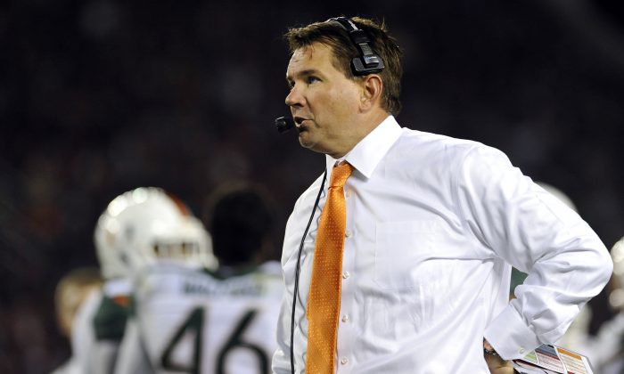 Head coach Al Golden went 32–25 in his four-plus seasons at Miami. (Michael Shroyer/Getty Images)
