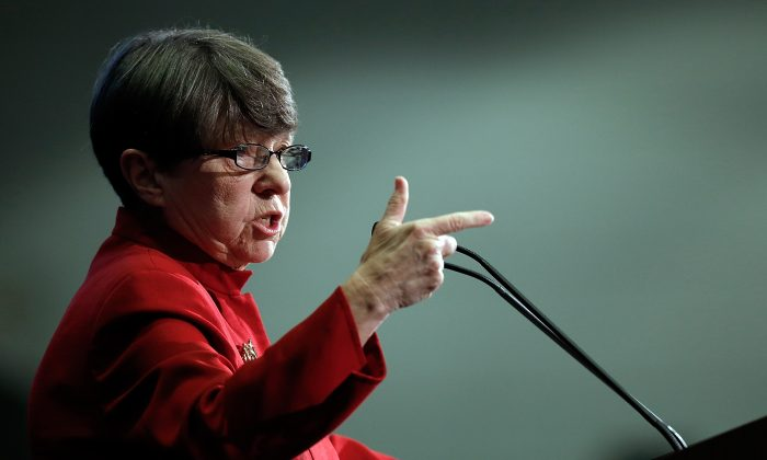 SEC Chairwoman Mary Jo White at The SEC Speaks conference in Washington, DC on  Feb. 21, 2014. (Win McNamee/Getty Images)