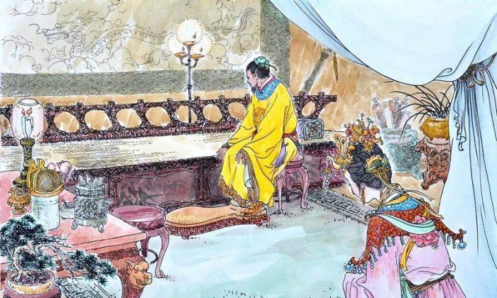 A depiction of Tang Dynasty empress Zhangsun and her husband, Taizong.