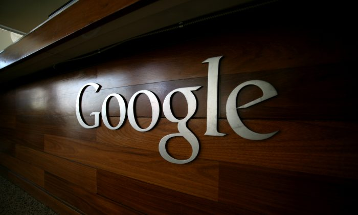 The Google logo is seen at the Google headquarters in Mountain View, Calif., on Sept. 2, 2011. (Kimihiro Hoshino/AFP/Getty Images)