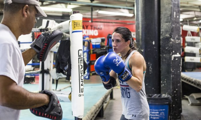 Christina Cruz, a nine-time Golden Gloves champion, at the Gleason's Gym in Brooklyn, New York, on Oct. 21. (Samira Bouaou/Epoch Times)