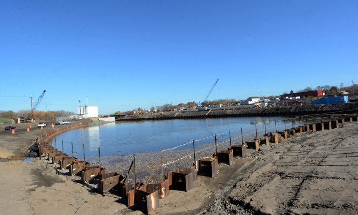 Waters of the Mohawk River flow into the new harbor area at the Rivers Casino & Resort at Mohawk Harbor in Schenectady, N.Y., on Nov. 3, 2015. Nearly a year after three casino projects in New York were chosen as part of a plan to boost the upstate economy, those projects are still awaiting casino license following delays caused by bureaucratic red tape and, in one case, lawsuits from local opponents. (Marc M. Schultz/Schenectady Daily Gazette via AP)