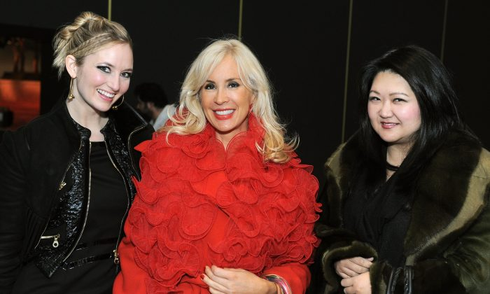 NEW YORK - FEBRUARY 16:  Katrina Szish, Tracy Stern and Susan Chin attend Mercedes-Benz Fashion Week at Bryant Park on February 16, 2010 in New York City.  (Photo by Katy Winn/Getty Images for IMG)