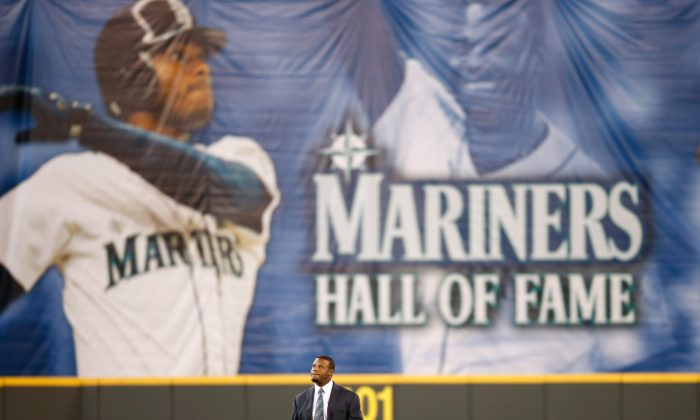 Ken Griffey Jr. won an MVP and four home run titles during his years with the Seattle Mariners. (Otto Greule Jr/Getty Images)