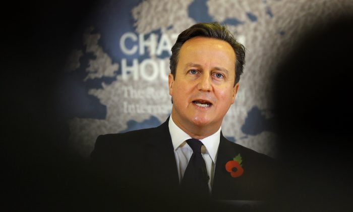 Britain's Prime Minister David Cameron in a file photo. (AP Photo/Kirsty Wigglesworth, pool)
