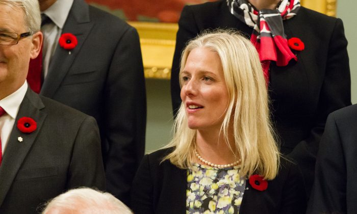 Canada's new Environment Minister Catherine McKenna at Rideau Hall in Ottawa, Ontario, on Nov. 4, 2015. (Geoff Robins/AFP/Getty Images)