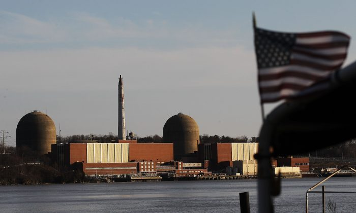 FILE:The Indian Point nuclear power plant on March 18, 2011 in Buchanan, New York.  (Mario Tama/Getty Images)