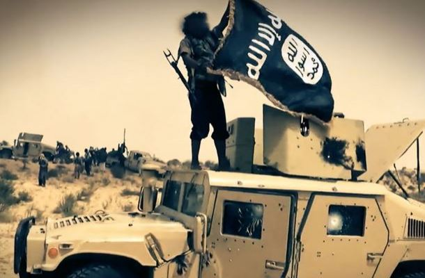 An Islamic State member in a propaganda shot. (ISIS)