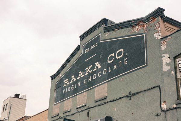 The exterior of the Raaka Chocolate factory in Brooklyn, N.Y. (Courtesy of Raaka Chocolate)