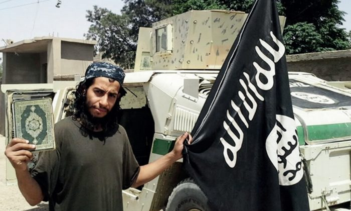 This undated image made available in the ISIS' English-language magazine Dabiq shows Belgian national Abdelhamid Abaaoud. (Militant Photo via AP)