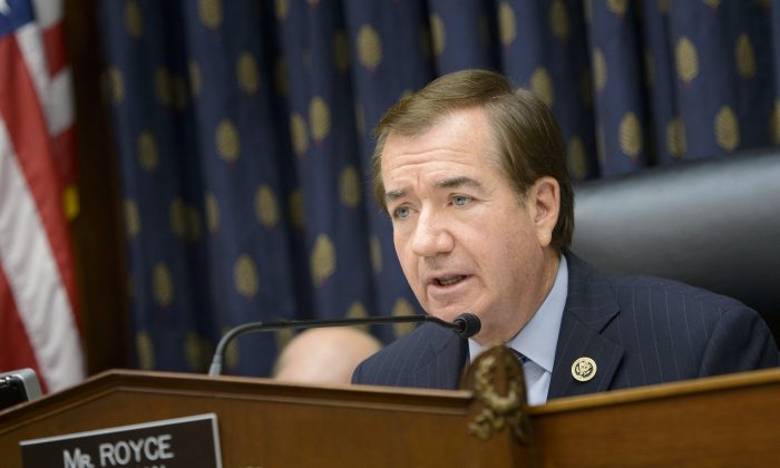 Foreign Affairs Committee chairman Rep. Ed Royce (R-Calif.) at a hearing in Washington, D.C., on June 2, 2015. (Brendan Smialowski/AFP/Getty Images)
