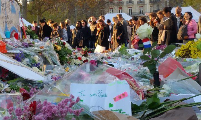 Place de la Republique, in Paris, on  Nov. 18, 2015. (David Vives/Epoch Times)