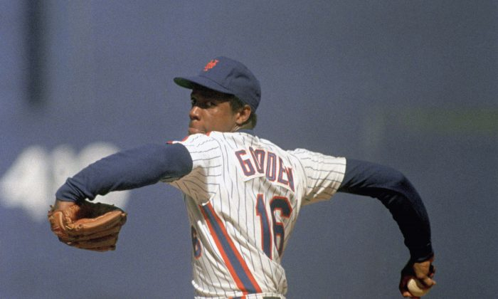 New York Mets pitcher Dwight Gooden had one of the all-time great seasons in 1985 going 24–4 with a 1.53 ERA and 268 strikeouts. (AP Photo/Ray Stubblebine)