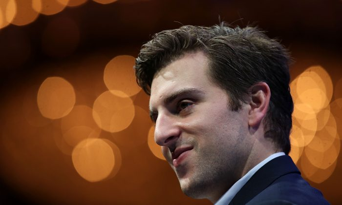 SAN FRANCISCO, CA - NOVEMBER 04:  Airbnb co-founder and CEO Brian Chesky speaks during the Fortune Global Forum on November 4, 2015 in San Francisco, California. Business leaders are attending the Fortune Global Forum that runs through November 4.  (Photo by Justin Sullivan/Getty Images)