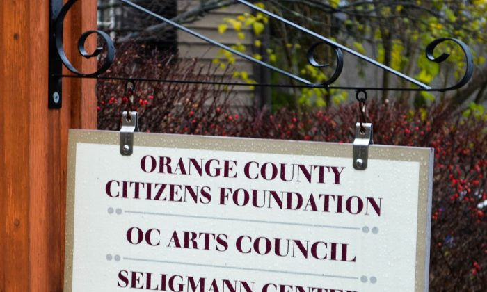 Sign at Orange County ARts Council in Sugar Loaf on Nov. 19, 2015. (Yvonne Marcotte/Epoch Times)