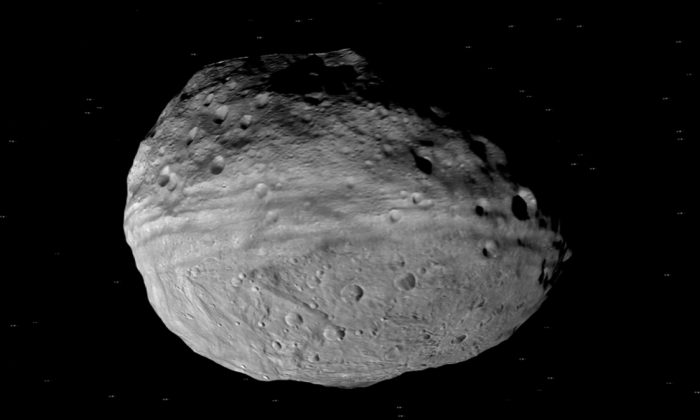 The Asteroid Vesta, one of the largest asteroids in the asteroid belt. (NASA)