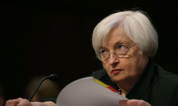 Federal Reserve Chairman Janet Yellen testifies before a Joint Economic Committee hearing on Capitol Hill in Washington, D.C., on Dec. 3, 2015. (Mark Wilson/Getty Images)