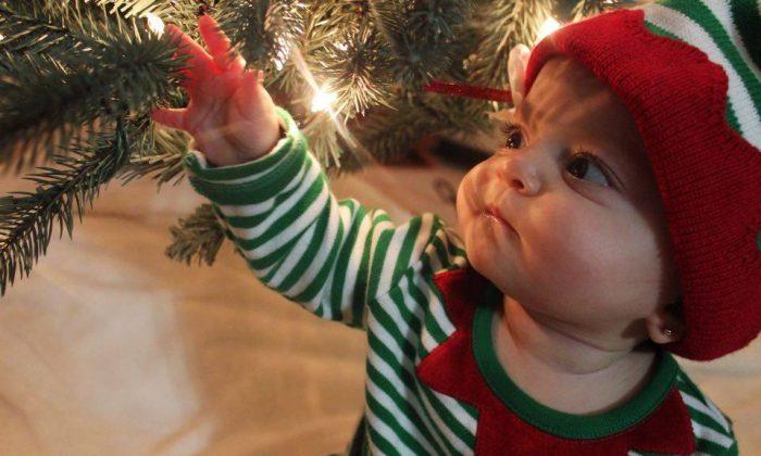 A child in Middletown on Nov. 23. (Elisa Cavaliere)