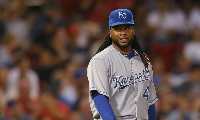 Johnny Cueto struggled after being dealt to Kansas City in the offseason going 4–7 with a 4.76 ERA. (Jim Rogash/Getty Images)