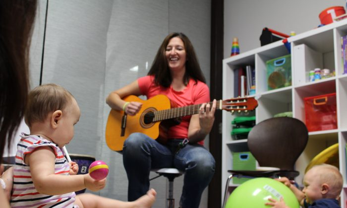 Music therapist Kat Fulton works with clients old and young. (Courtesy of Kat Fulton)
