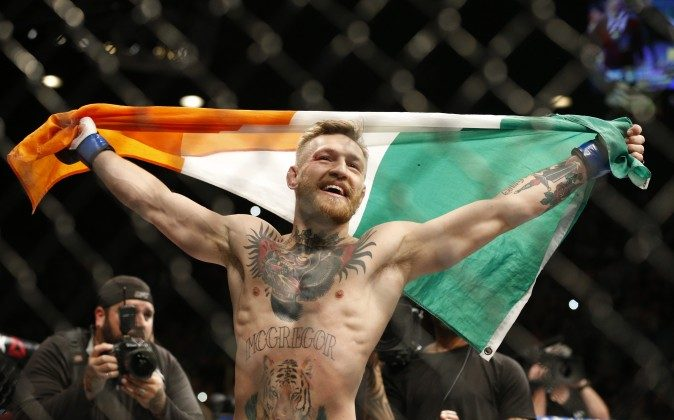 Conor McGregor needed just seven fights to become an undisputed UFC World Champion. (AP Photo/John Locher)