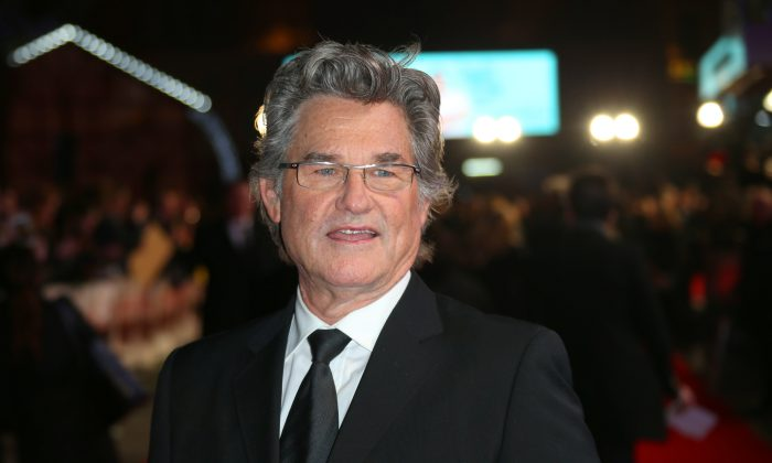 Kurt Russell poses for photographers upon arrival at the premiere of the film 'The Hateful Eight' in London, Thursday, Dec. 10, 2015. (Photo by Joel Ryan/Invision/AP)