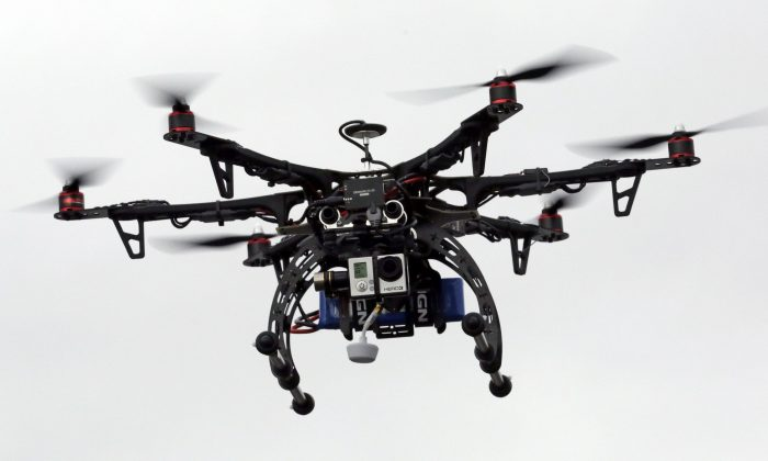 A drone. (AP Photo/Rick Bowmer)