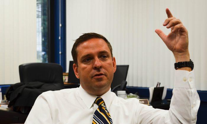 Orange County Executive Steven Neuhaus in his office in Goshen on Sept. 29, 2015. (Yvonne Marcotte/Epoch Times)