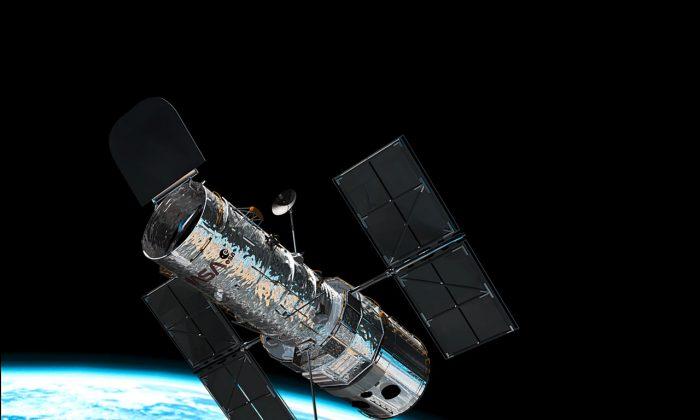 The Hubble Space Telescope in orbit. (ESA)