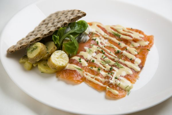 Salmon gravlax that has been cured for 72 hours in aquavit, a quintessential Nordic liquor infused with caraway. (Samira Bouaou/Epoch Times)