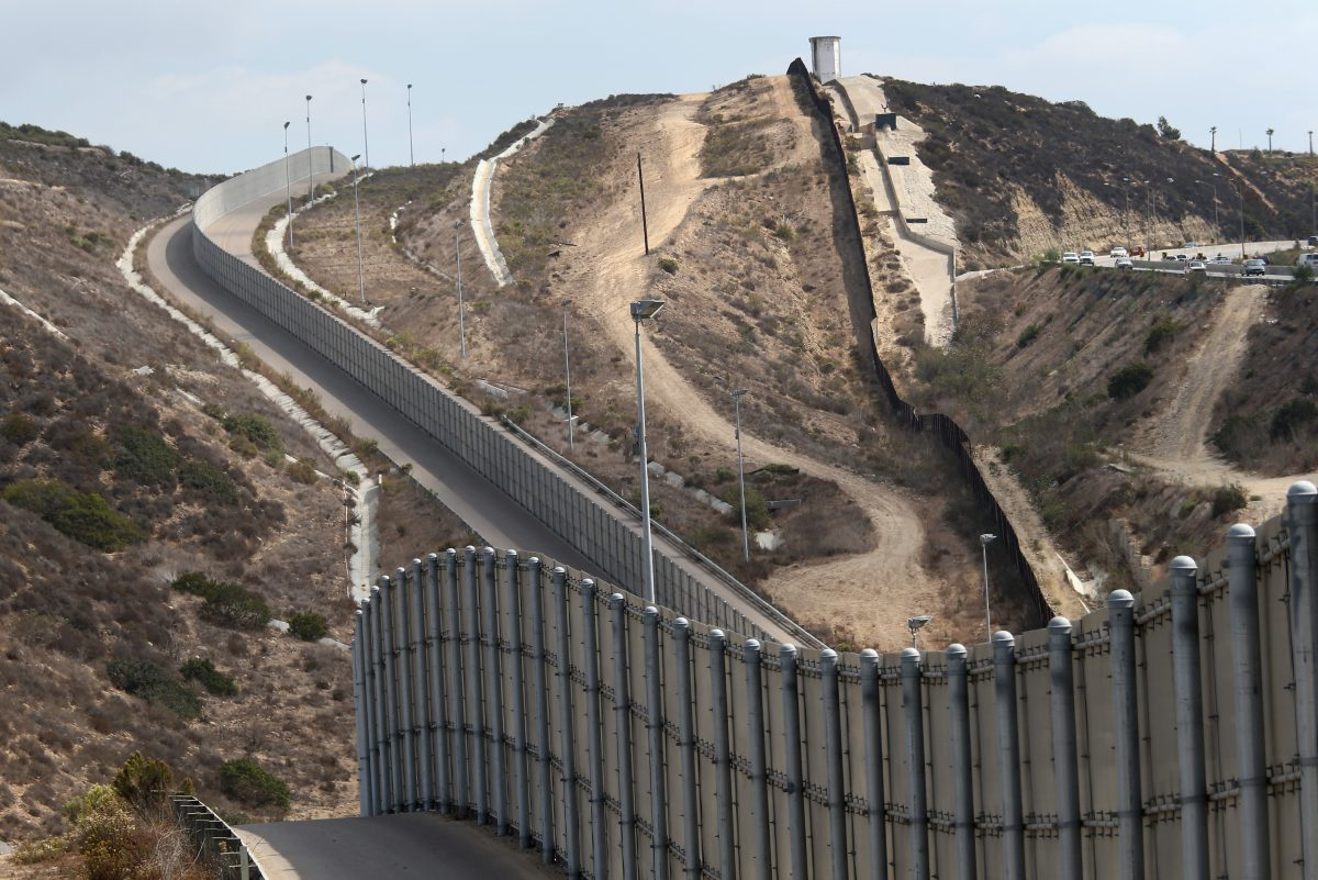 The U.S.-Mexico border fence near San Diego, Calif., on Oct. 3, 2013. (John Moore/Getty Images)