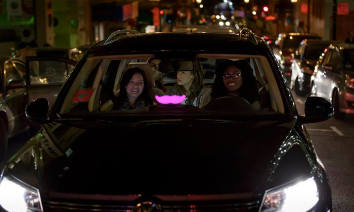 A Lyft driver with passengers. (Courtest of Lyft)