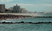 Polar Bear Plunge: Swimmers Splash Into 2016 in Atlantic Ocean off New York City