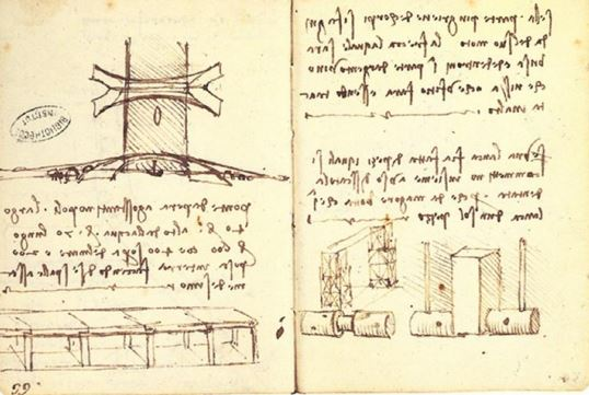 Leonardo Da Vinci's original sketch for the Golden Horn Bridge. (Public Domain)