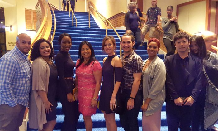 An inspired group of students from Johnson and Whales University shared how Shen Yun's Jan. 8, opening-night performance at the Broward Center expanded their minds and moved their hearts. (Jada Yeung/Epoch Times)