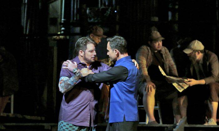 Matthew Polenzani as Nadir and Mariusz Kwiecien as Zurga in Bizet's Les Pêcheurs de Perles. (Ken Howard/Metropolitan Opera)