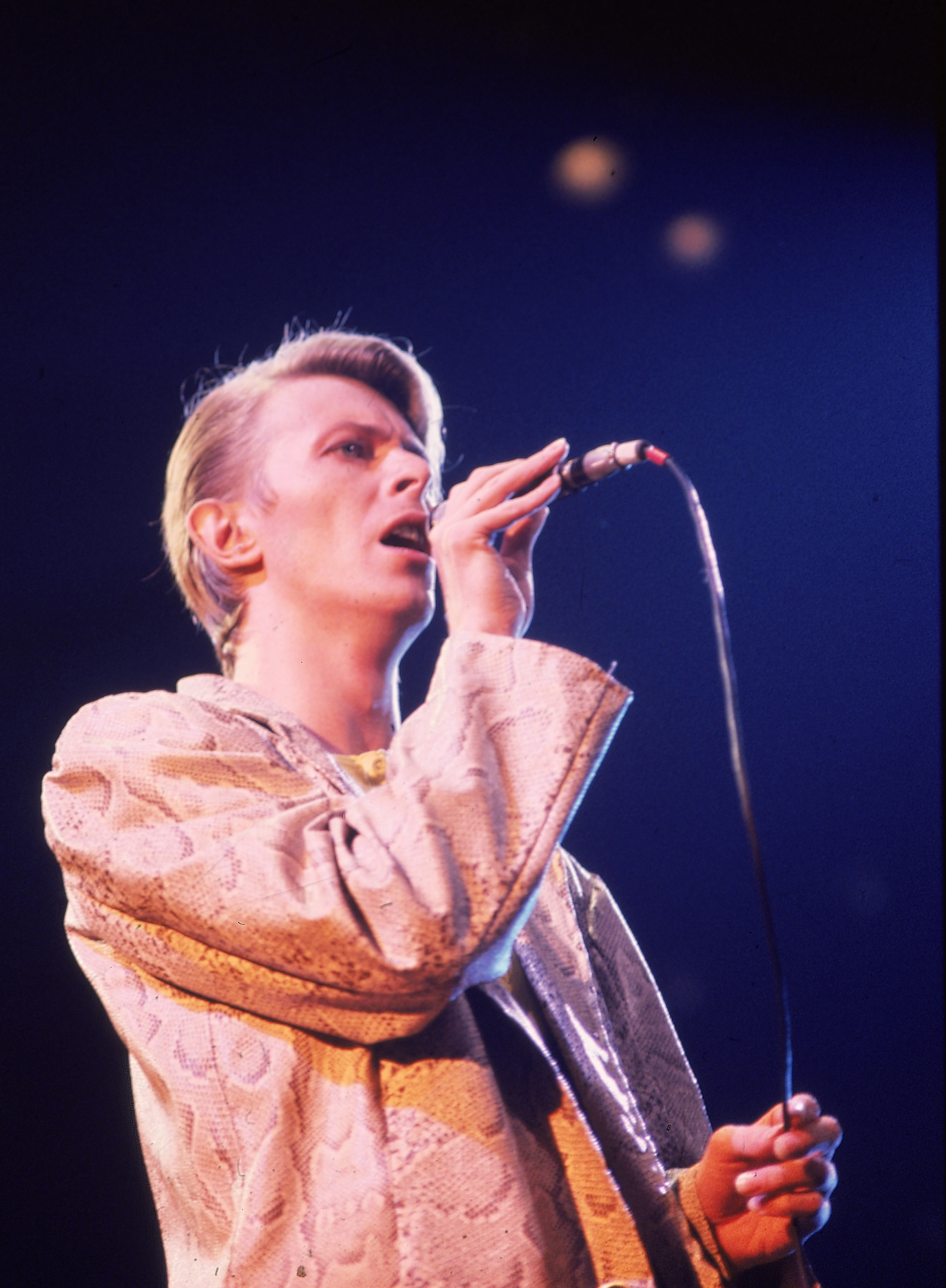 David Bowie at Madison Square Garden in New York in May 1978. (AP Photo/Brian Killigrew)