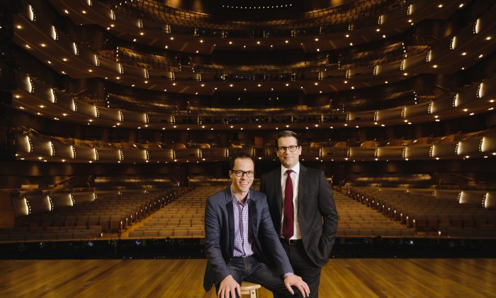 COC Music Director Johannes Debus and COC General Director Alexander Neef announced the company's 2016/2017 season at a special event at the  Four Seasons Centre, Jan. 13, 2016 (bohuang.ca)