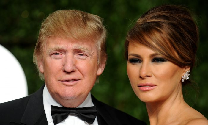 Donald Trump and wife Melania Trump arrive at the Vanity Fair Oscar party hosted by Graydon Carter held at Sunset Tower on February 27, 2011 in West Hollywood, California. (Pascal Le Segretain/Getty Images)