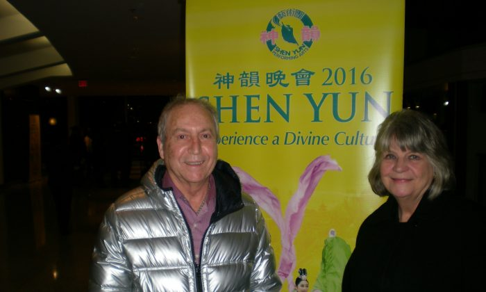 Ceasar Correia and Carolyn Willmore took in Shen Yun's opening night performance at Vancouver's Queen Elizabeth theatre on Jan. 22, 2016. (Ryan Moffatt/Epoch Times)