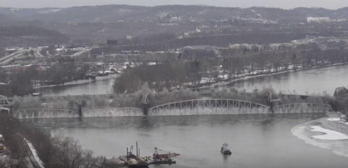 Video Shows Hulton Bridge Being Demolished in Pennsylvania